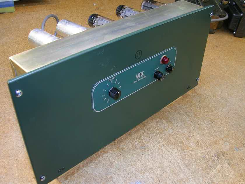ALTEC LANSING.....1569B  TUBE AMPLIFIERS ( PAIR) COMPLETELY ALL ORIGINAL with MULLARD OUT-PUT TUBES