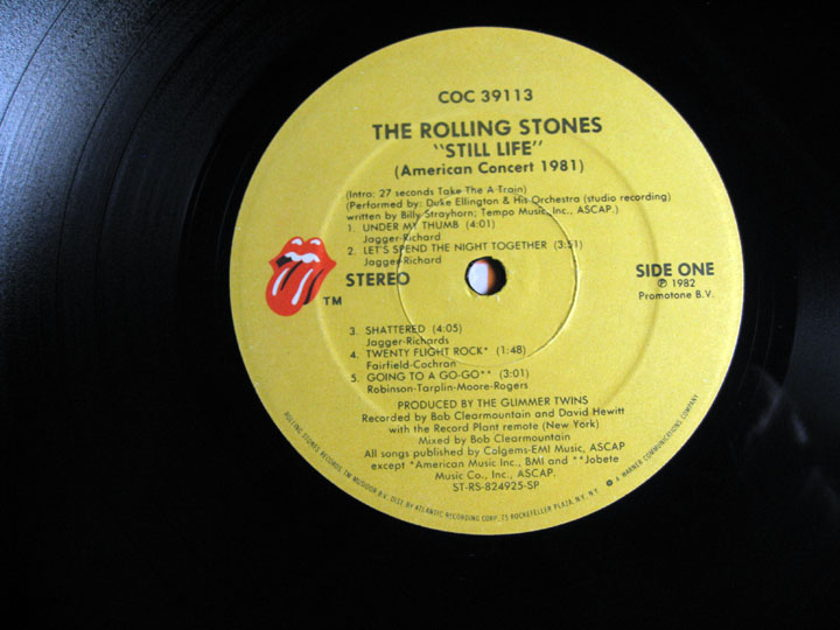 The Rolling Stones - Still Life (American Concert 1981) - MASTERDISK / EDP 1982 Rolling Stones Records COC 39113
