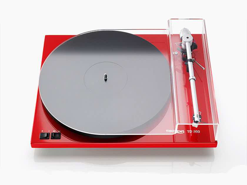 Thorens TD-203 Turntable, Red, New-in-Box w/Warranty