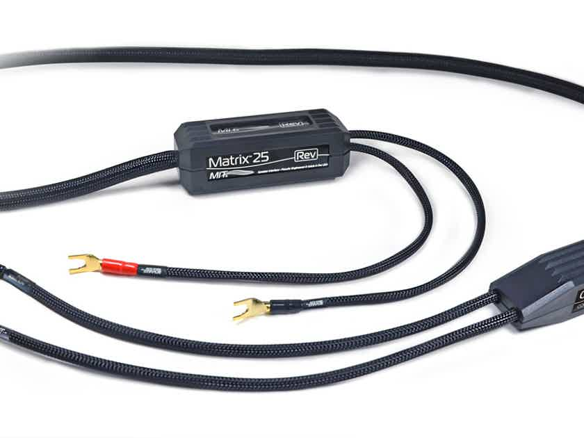 MIT Cables MATRIX 25 REV SPEAKER CABLE, 8 FT PR, NEW SERIES, 30-DAY AUDITION