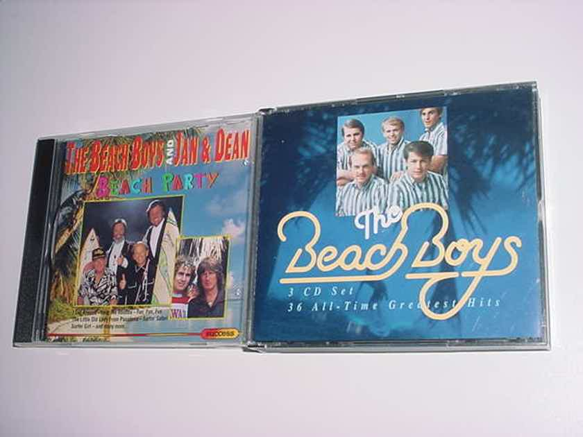 The Beach Boys 3 cd set 36 all time greatest hits - and beach party cd Beach Boys and Jan and Dean