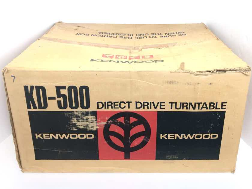 Kenwood KD 500 2-Speed Direct Drive Turntable Record Player ONLY w/ Original Packing Box