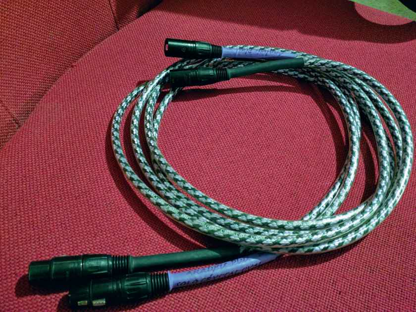Analysis Plus Inc. Solo Crystal Oval 2 meter  pair Balanced nuetrik connectors