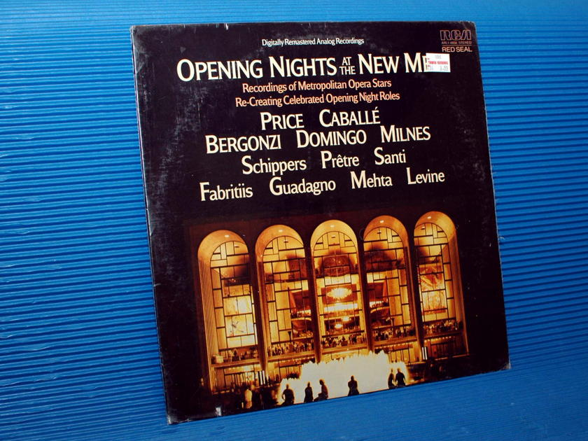 """""""OPENING NIGHTS AT THE NEW MET""""   - Various Performers -  RCA Red Seal 1983 SEALED"""