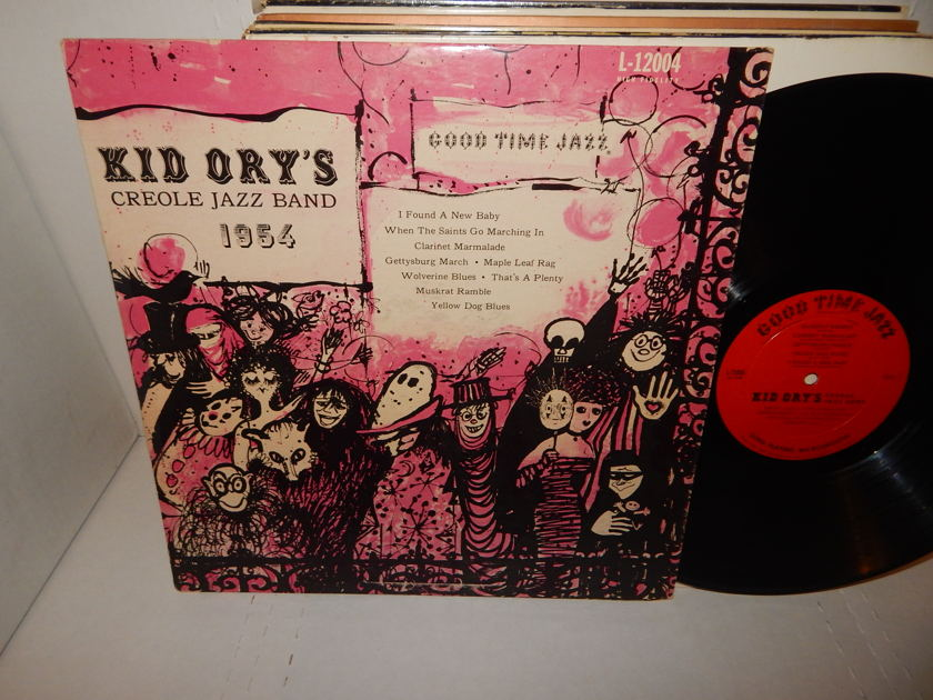 KID ORY'S CREOLE JAZZ BAND - Good Time Jazz L-12004 Deep Groove LP