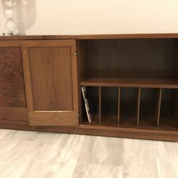 Custom Walnut Record Cabinet