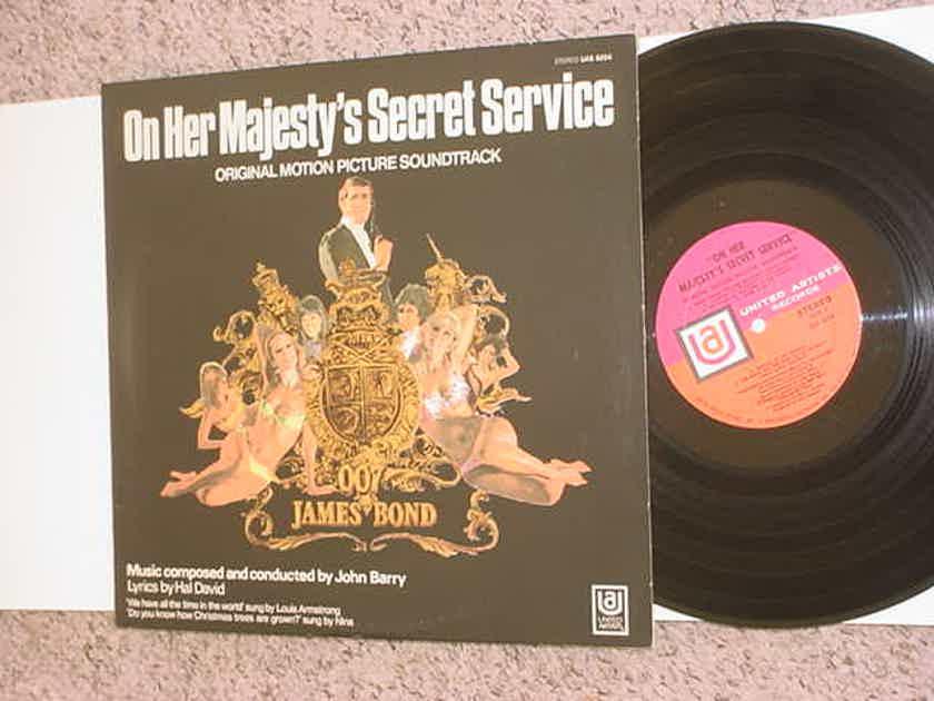James Bond soundtrack lp record - On her Majestys secret service UNITED ARTISTS Stereo UAS 5204