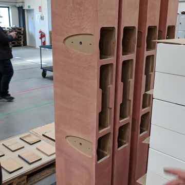 Raw cabinets at the factory