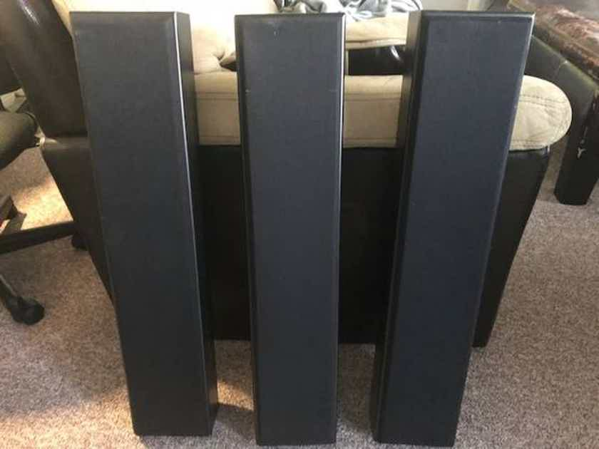 2 Totem Acoustic Tribe 2 speakers in graphite black inc. mounts and grills