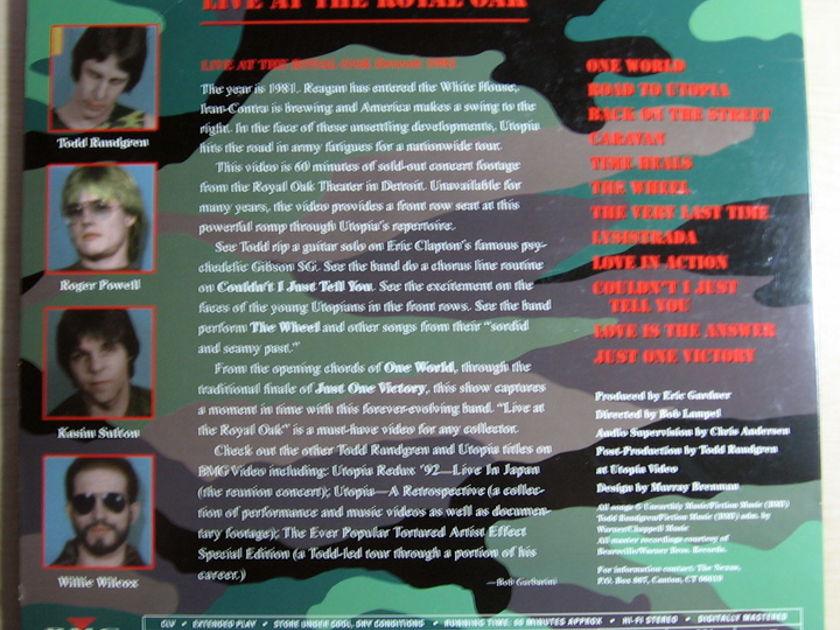 UTOPIA / Todd Rundgren - LIVE AT THE ROYAL OAK - LD Laser Disc BMG 72333-80054-6