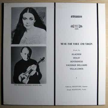 Catherine Malfitano, Joseph Malfitano Music For Voice And Violin