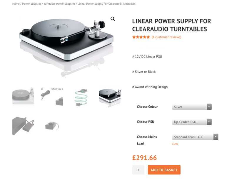 Clearaudio Concept / Concept MM Cart / upgraded outboard linear PSU / clamp