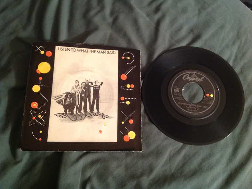 Wings Paul McCartney  Listen To What The Man Said 45 With Picture Sleeve