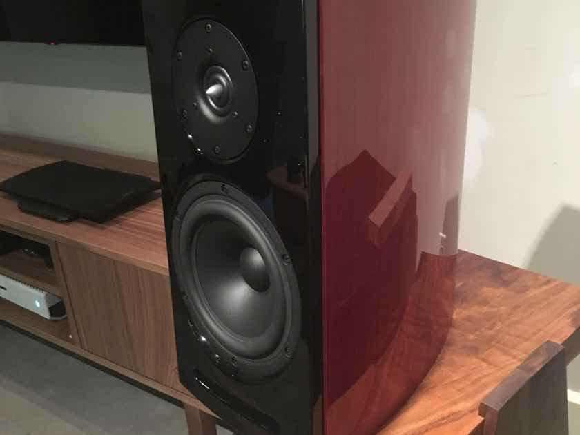 Aerial Acoustics 5T in Gloss Rosenut - Dealer Demo Pair, cosmetic imperfections