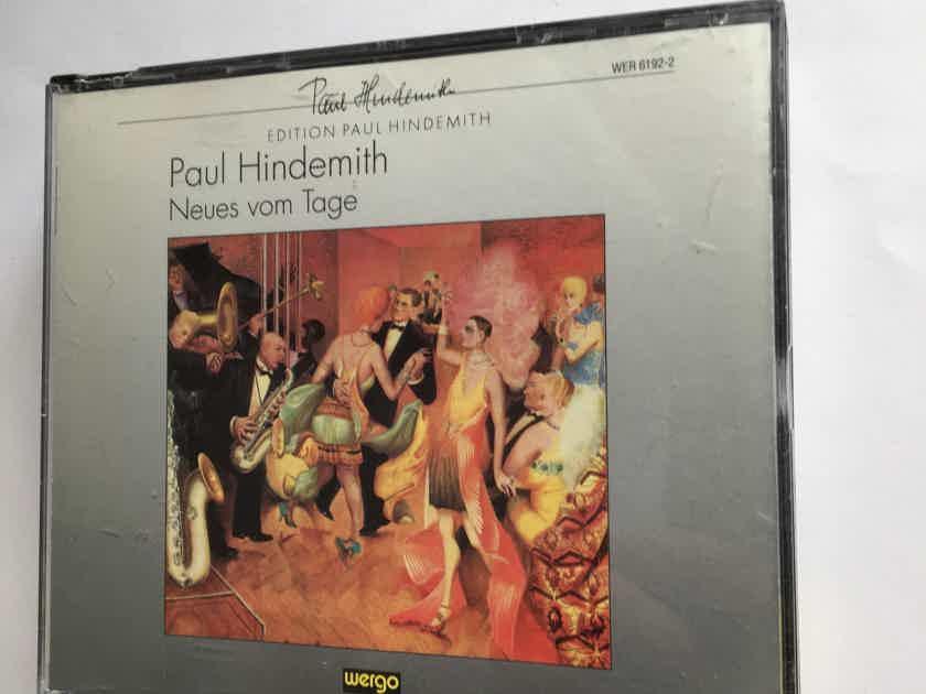 Paul Hindemith  Neues  vom Tage Cd set Wergo 1991 Germany