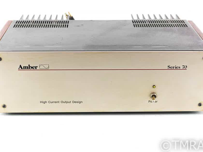 Amber Audio Series 70 Vintage Stereo Power Amplifier (26585)