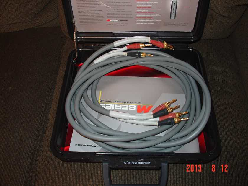 Monster Cable 1.2s speaker cables 10 ft pair with banana connectors ...