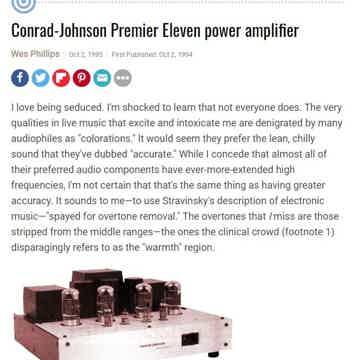 Conrad Johnson Premier 11A