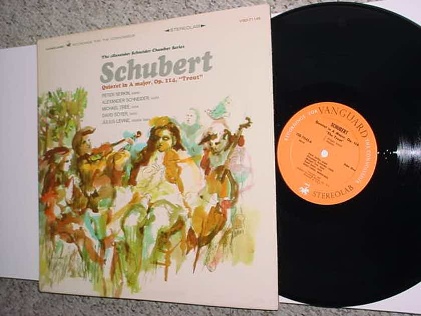 CLASSICAL Vanguard Schubert Quintet A MAJOR OP 114 TROUT LP Record stereolab