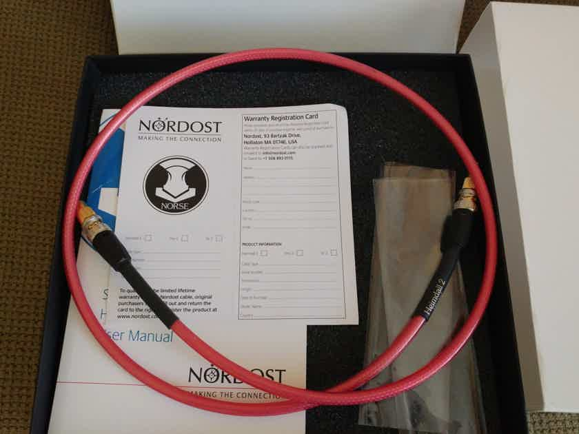 Nordost Heimdall 2 digital interconnect, SPDIF/BNC, 1M length, as new!