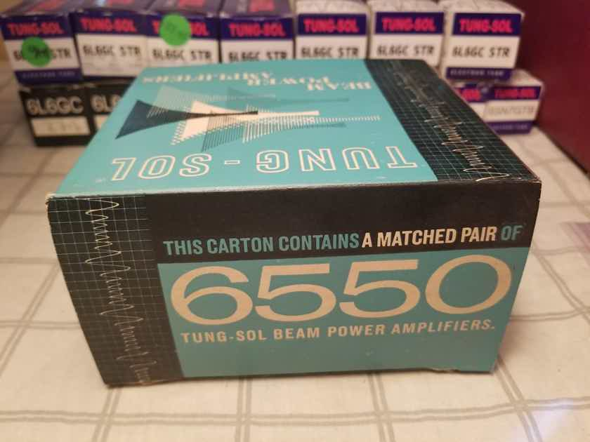 Tung-Sol 6550 Factory Matched Pair (Extremely Rare!)
