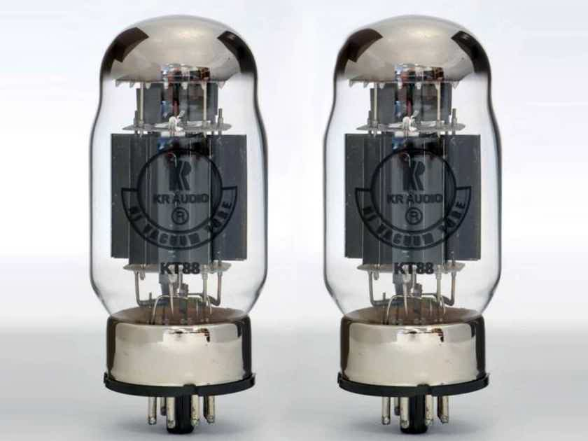 1 Match Pair KR Audio KT88 tubes - Brand NEW - hand made in Prague - Free Shipping