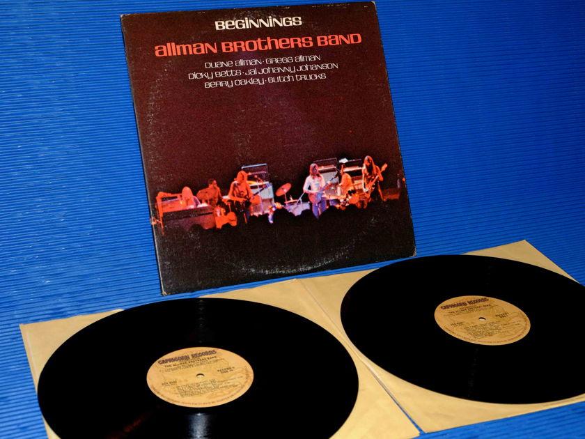"ALLMAN BROTHERS BAND - ""Beginnings"" - Capricorn 1974  Early Pressing 2 Lp set"