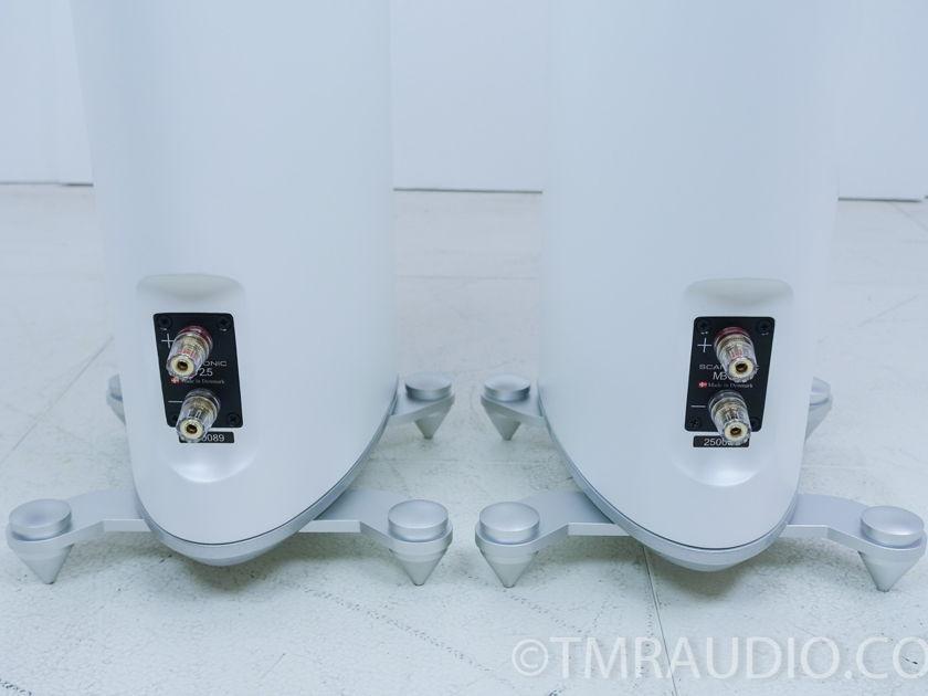 Scansonic MB2.5 Speakers; Gloss White Pair (7534)