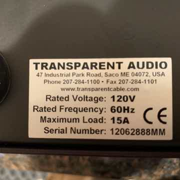 Transparent Audio PowerIsolator Reference MM w/Powerlink Super A/C cord