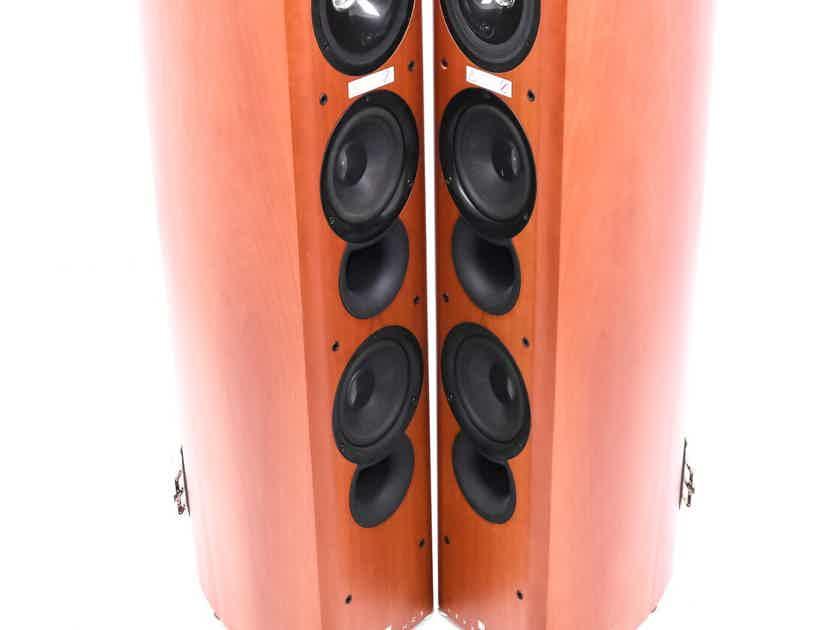 KEF Reference 203 Floorstanding Speakers; Cherry Pair (24004)