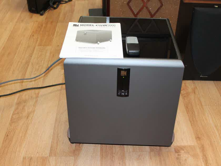 KEF PSW3000 Powered Subwoofer in Excellent Condition w/ Remote and Manual