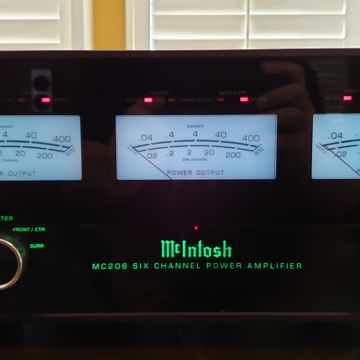 McIntosh MC-206, 6-channel, 200W/120W per channel Ampli...