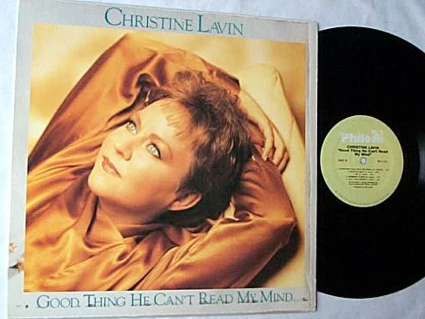 CHRISTINE LAVIN LP~Good thing - he can't read my mind~orig 1988 folk-pop album on PHILO Records
