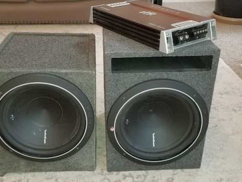 """2 12"""" subs and 2000w amp"""