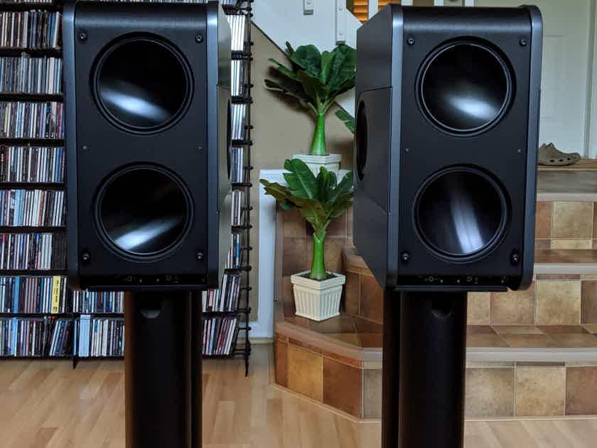 Kii Audio THREE in Graphite Satin Metallic finish + Kii CONTROL + Kii HiFi Stands