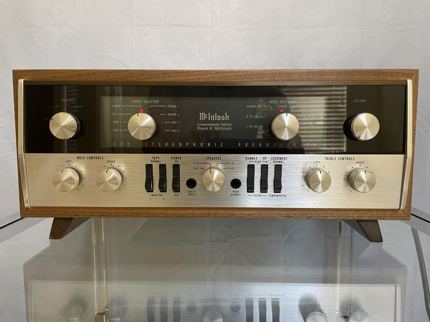 Mcintosh  C22 Tube Stereo Preamplifier Commemorative Edition