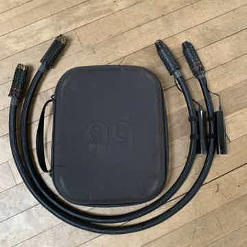 AudioQuest WEL 1 meter XLR cables with BRAND NEW DBS pa...
