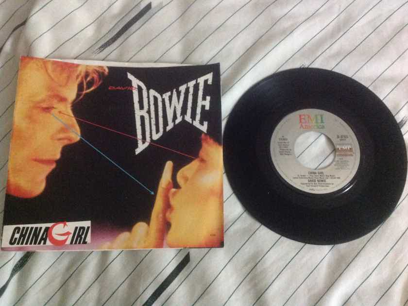 David Bowie - China Girl/Shake It 45 Single With Picture Sleeve EMI America Records Vinyl NM