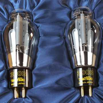 Ultra-Rare TAKATSUKI TA-300B  Triode Power Tubes: Matched Pair;