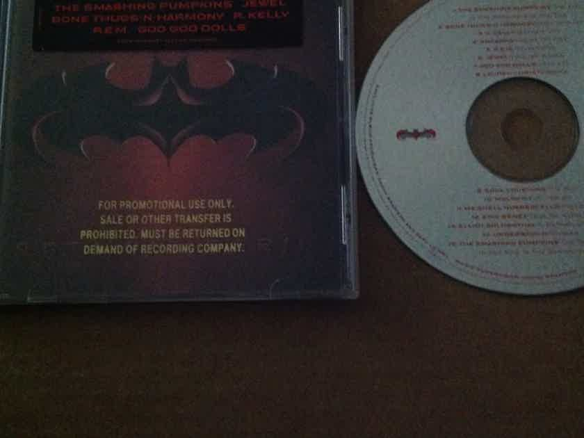 U2 R.E.M - Music From And Inspired By The Motion Picture Batman & Robin Promo CD Stamp on CD Booklet