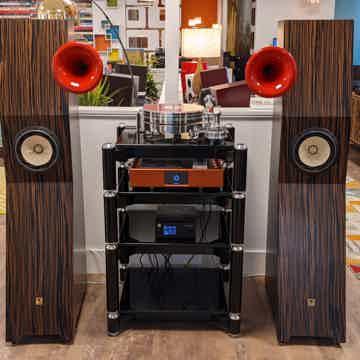 Tune Audio MARVEL Tower Speakers (Macassar Ebony/Red Ho...