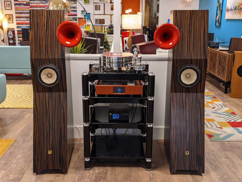 Tune Audio MARVEL Tower Speakers (Macassar Ebony/Red Horn): EXCELLENT Demo; Full Wrnty; 33% Off; Free Shipping