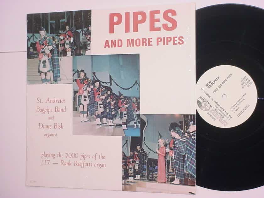 St Andrews Bagpipe Band and Diane Bish Organist Pipes and more Pipes lp record Rank Ruffatti Organ