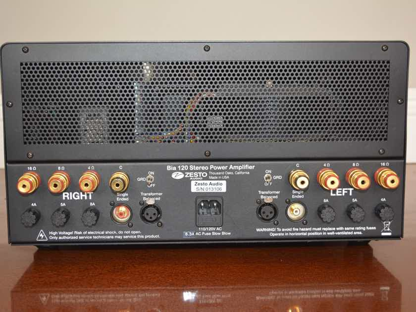 Zesto Audio Bia 120 Stereo Amplifier -- Very Nice Condition (see pics!)