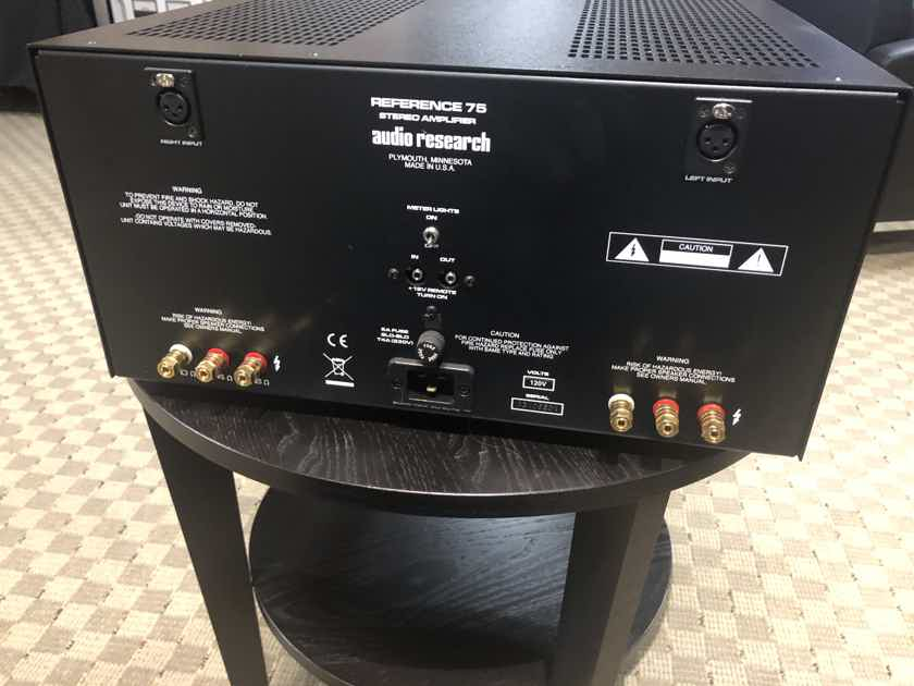 Audio Research Reference 75 Amplifier Black.