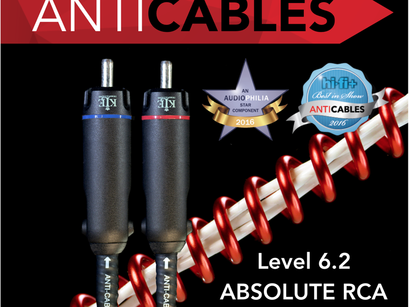 """ANTICABLES Level 6.2 """"ABSOLUTE Signature"""" RCA Analog Interconnects"""