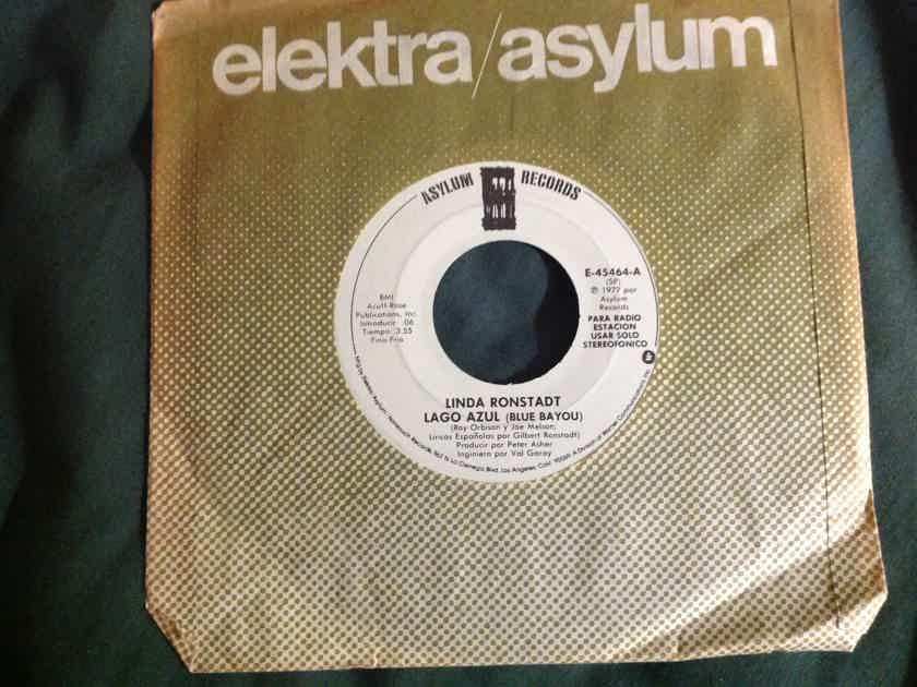 Linda Ronstadt - Lago Azul(Blue Bayou) Promo 45 Single Mono/Stereo Asylum Records Vinyl NM