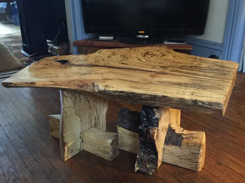 "TIMBERNATION Spalted Maple  Table  ""Only one in the world"""