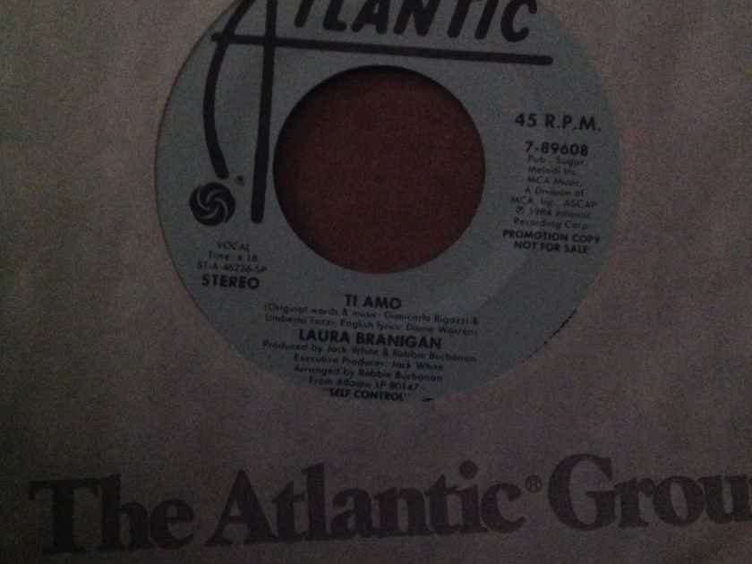 Laura Branigan - Ti Amo Atlantic Records Promo 45 Double Sided Stereo Vinyl NM