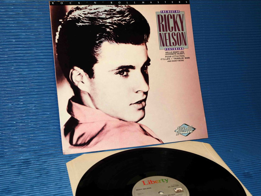 "RICKY NELSON - ""The Best of Ricky Nelson"" -  Liberty 1985 1st pressing British import"